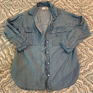 Old Navy Chambray Boyfriend Button-Up